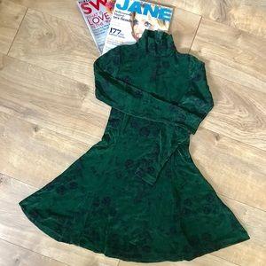 1990's Betsey Johnson Forest Green Dress